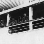 """En el barco, rumbo a Brasil, en compañia del conde """"Tonino"""" Brivio"""