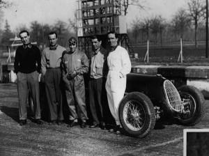 "La ""Scuderia Ferrari"" en pleno. Tadini, Brivio, Nuvolari, Pintacuda y Farina."